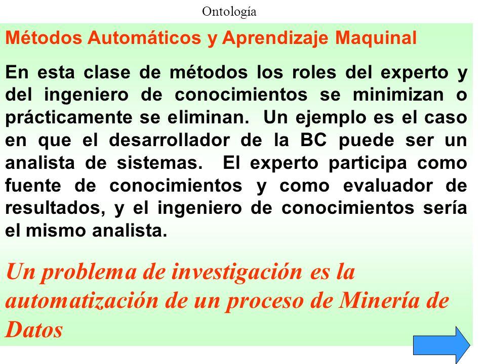 Ontología Métodos Automáticos y Aprendizaje Maquinal.