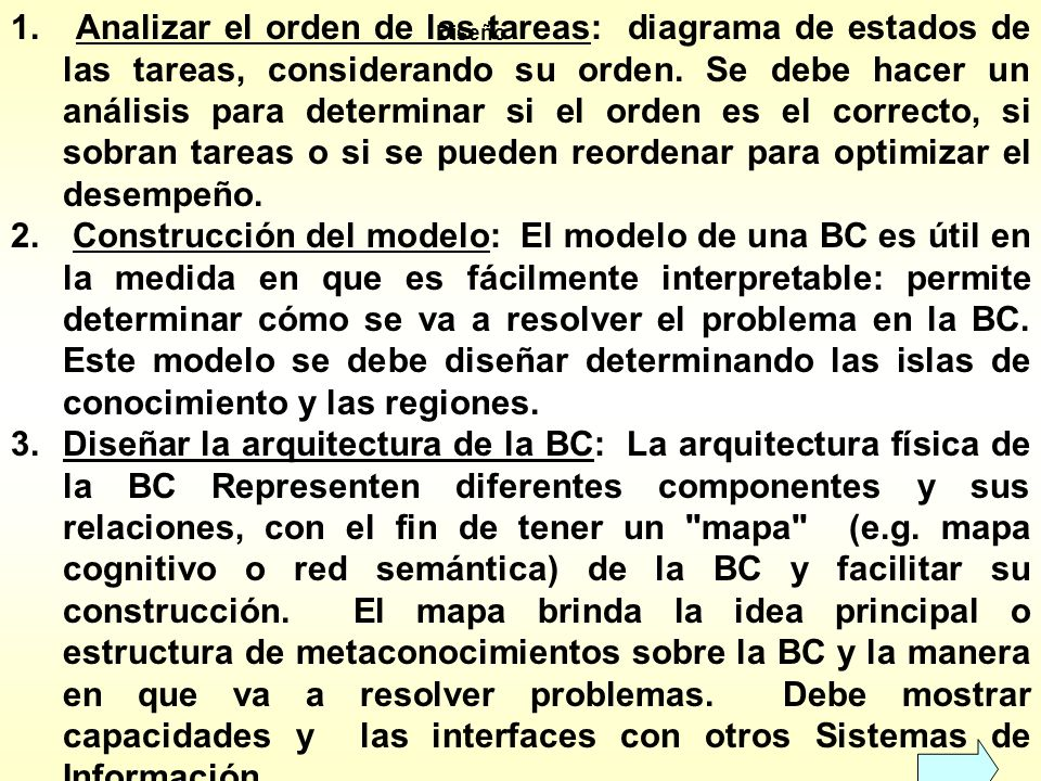 Analizar el orden de las tareas: diagrama de estados de las tareas, considerando su orden. Se debe hacer un análisis para determinar si el orden es el correcto, si sobran tareas o si se pueden reordenar para optimizar el desempeño.