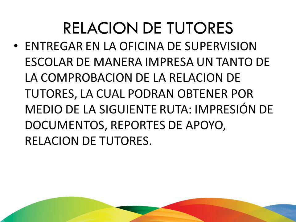 RELACION DE TUTORES