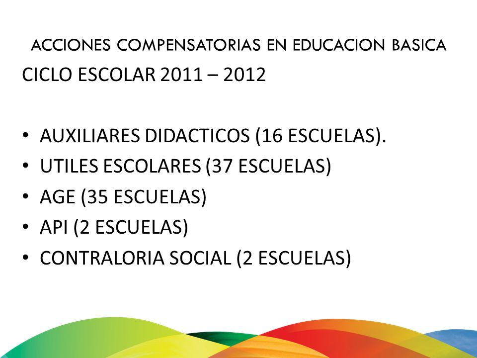 ACCIONES COMPENSATORIAS EN EDUCACION BASICA