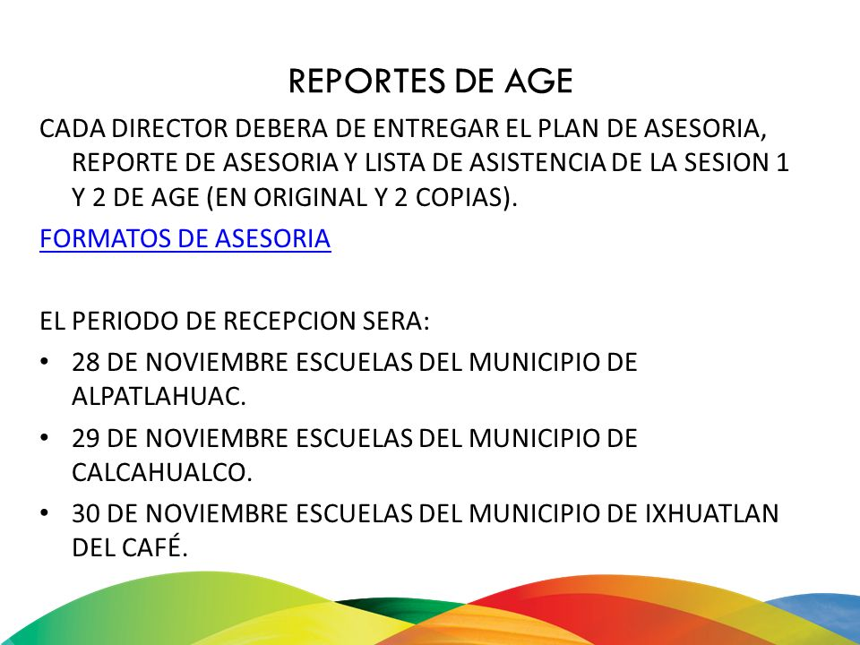 REPORTES DE AGE