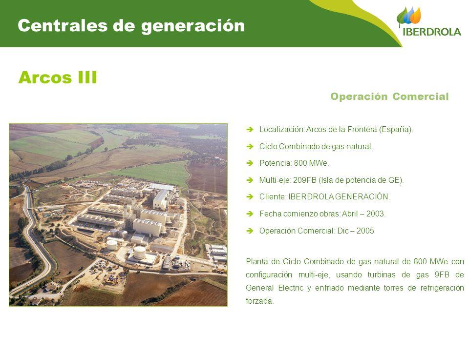 Arcos III Centrales de generación Operación Comercial