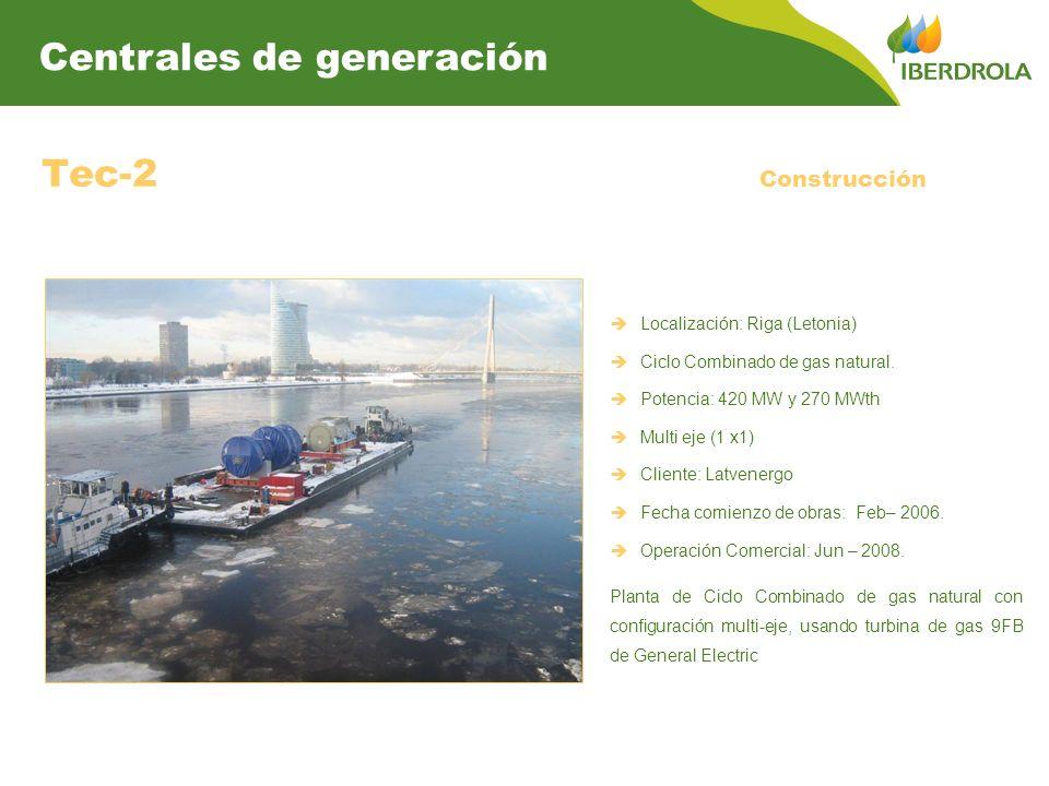 Tec-2 Centrales de generación Construcción