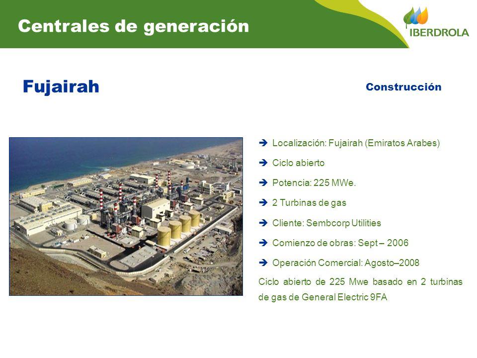Fujairah Centrales de generación Construcción