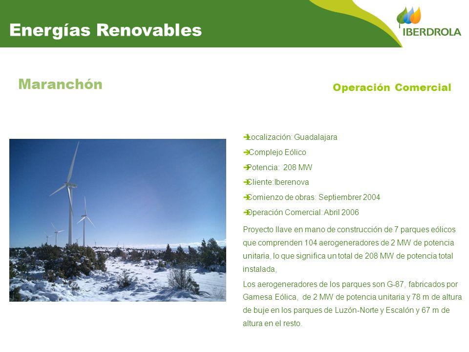 Energías Renovables Maranchón Operación Comercial