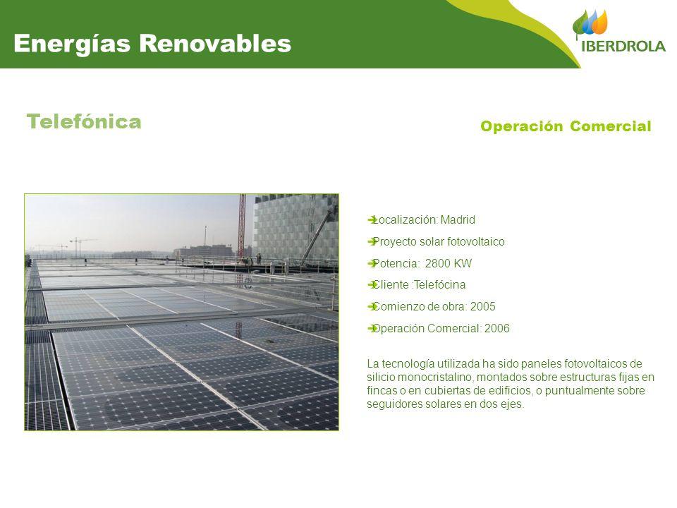 Energías Renovables Telefónica Operación Comercial