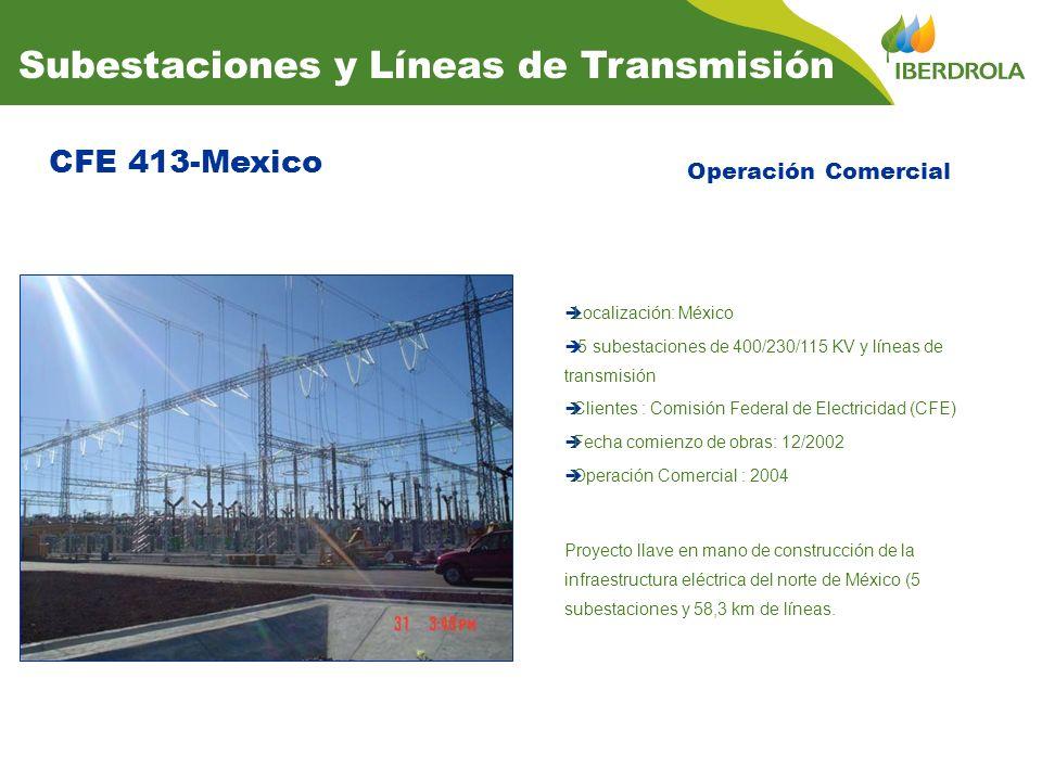 CFE 413-Mexico Subestaciones y Líneas de Transmisión