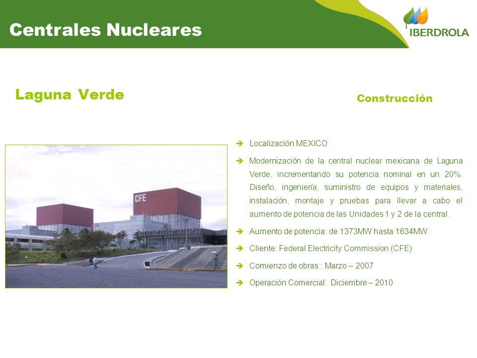 Centrales Nucleares Laguna Verde Construcción Localización MEXICO