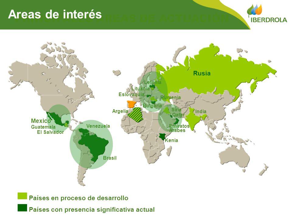 Areas de interés PRINCIPALES ÁREAS DE ACTUACIÓN Rusia