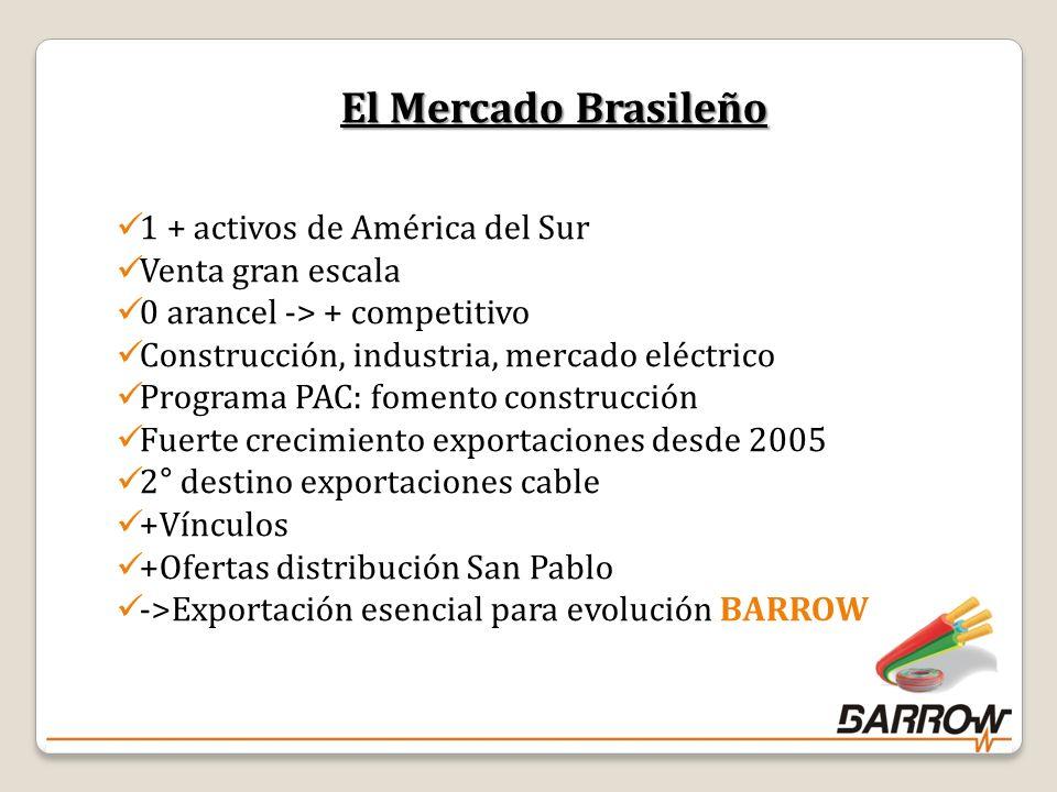 El Mercado Brasileño 1 + activos de América del Sur Venta gran escala