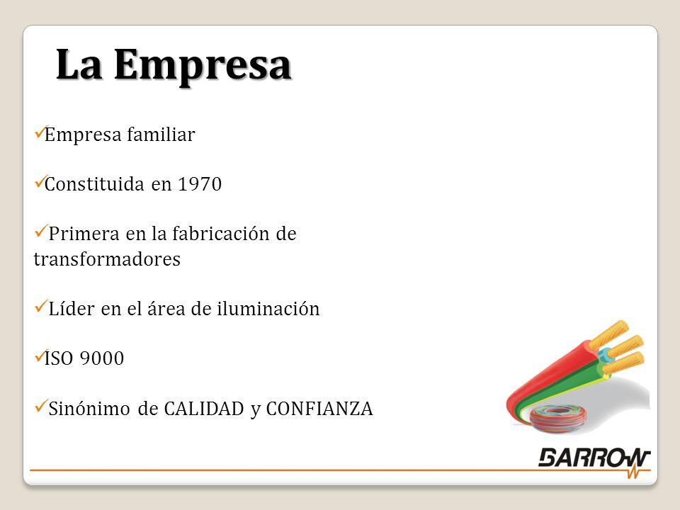 La Empresa Empresa familiar Constituida en 1970