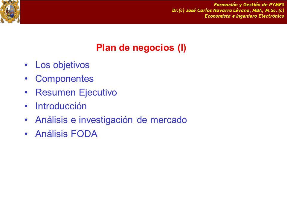 Análisis e investigación de mercado Análisis FODA