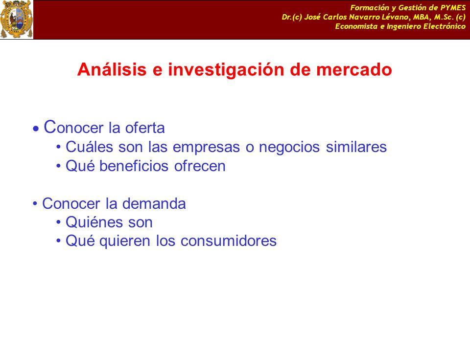 Análisis e investigación de mercado