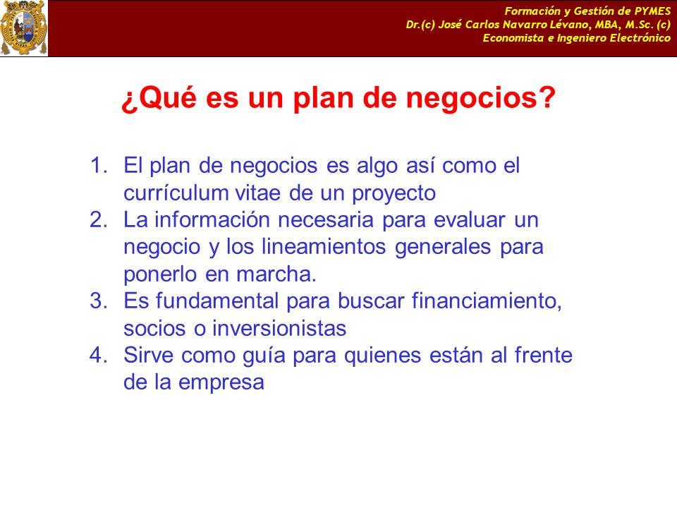 ¿Qué es un plan de negocios