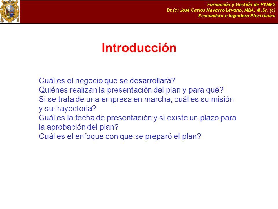 Introducción Cuál es el negocio que se desarrollará