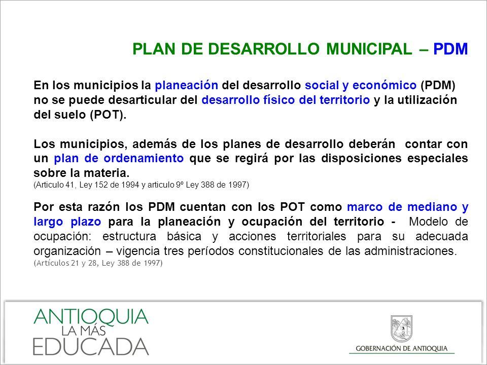 PLAN DE DESARROLLO MUNICIPAL – PDM