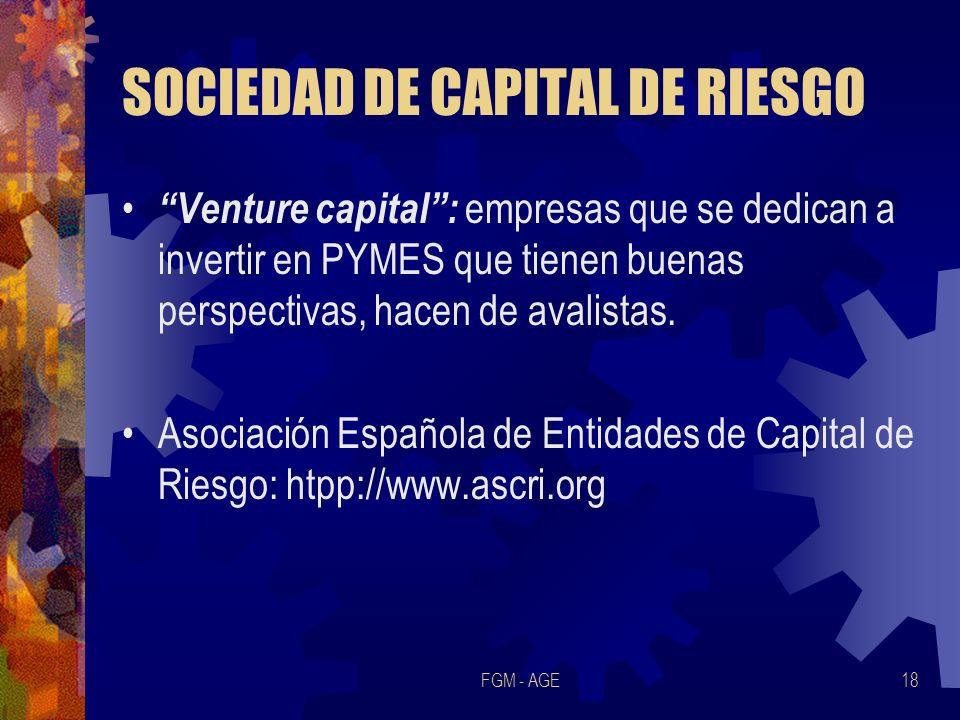SOCIEDAD DE CAPITAL DE RIESGO
