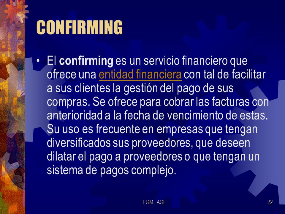 CONFIRMING