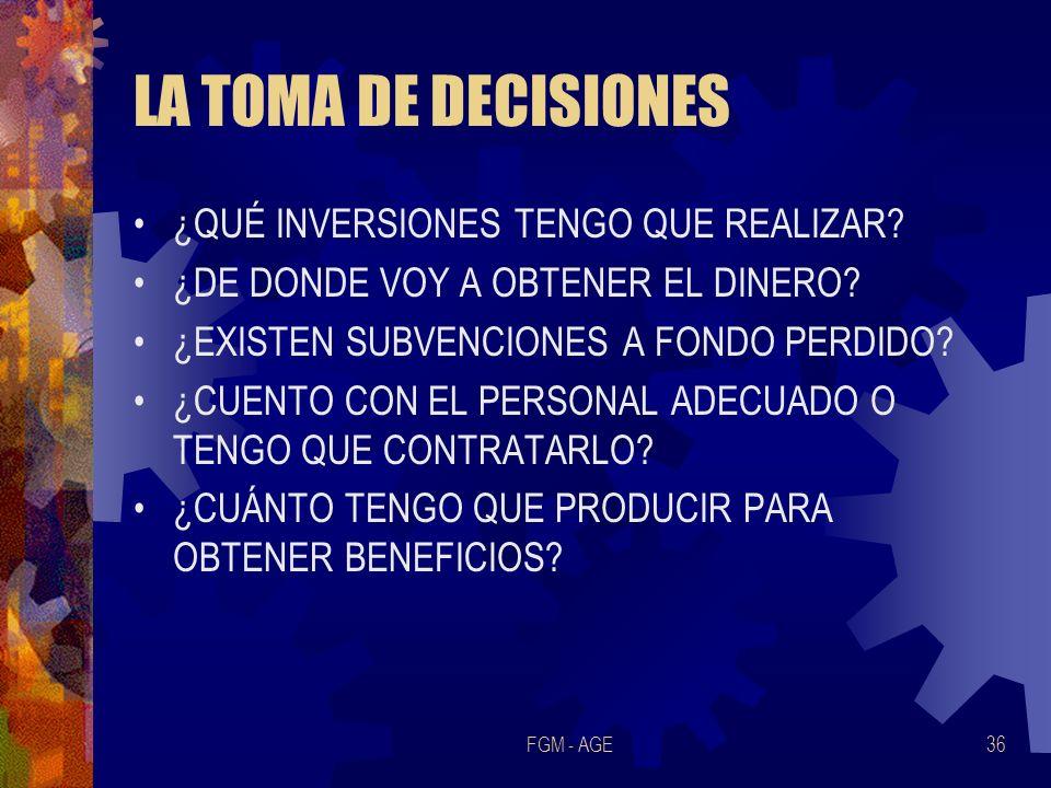 LA TOMA DE DECISIONES ¿QUÉ INVERSIONES TENGO QUE REALIZAR