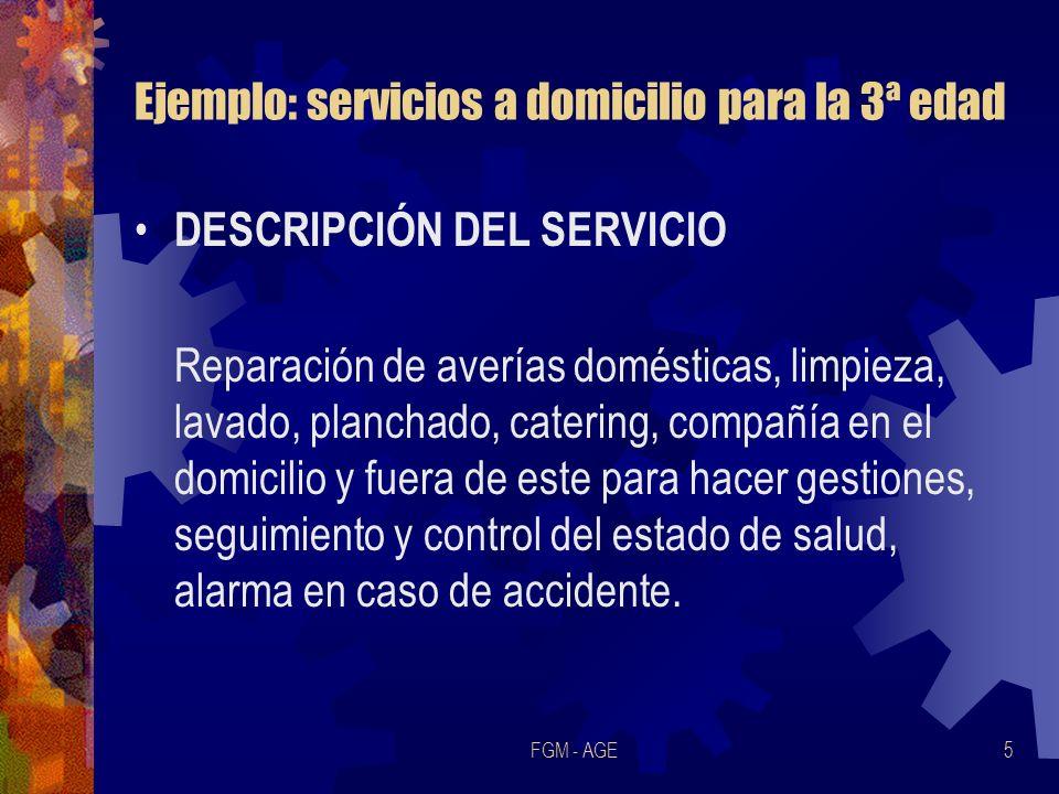 Ejemplo: servicios a domicilio para la 3ª edad