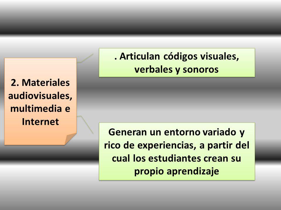 . Articulan códigos visuales, verbales y sonoros