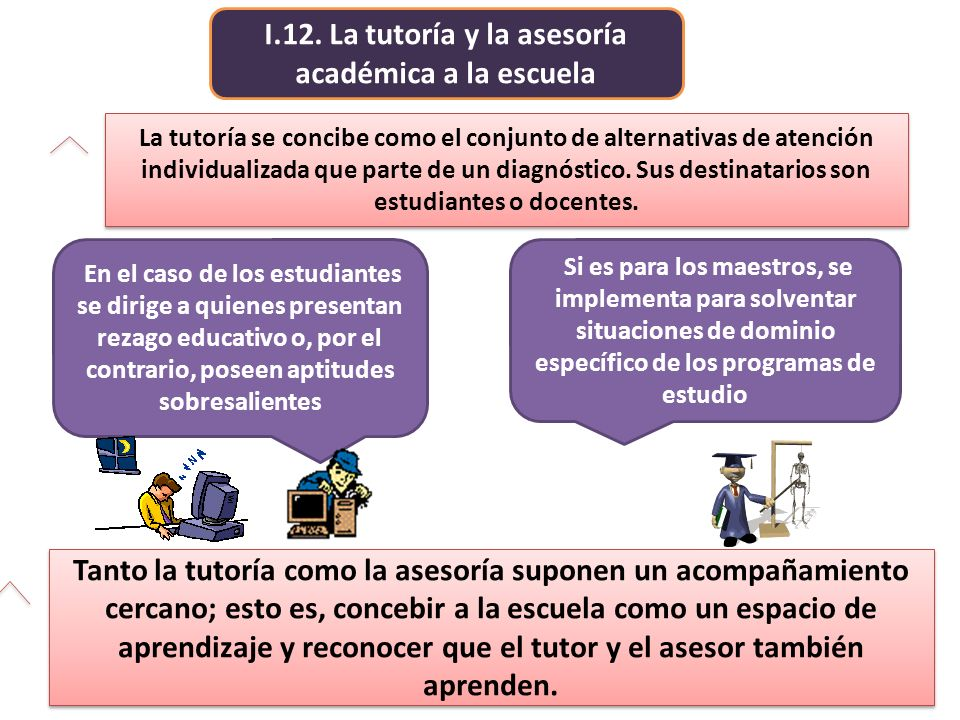 I.12. La tutoría y la asesoría académica a la escuela