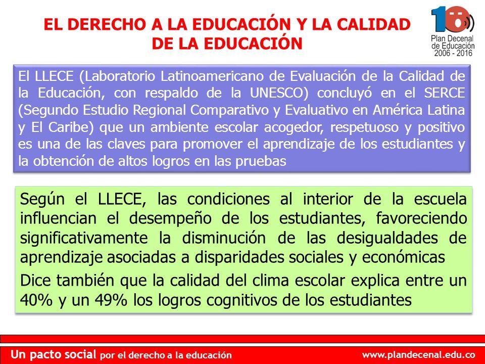 EL DERECHO A LA EDUCACIÓN Y LA CALIDAD DE LA EDUCACIÓN