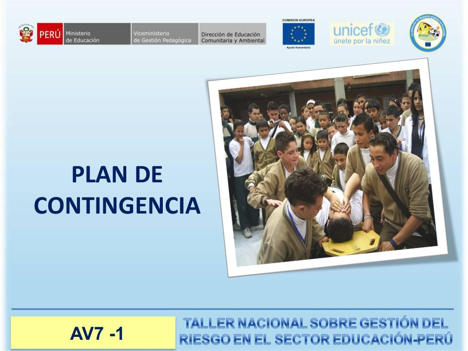 Manual del Instructor PLAN DE CONTINGENCIA