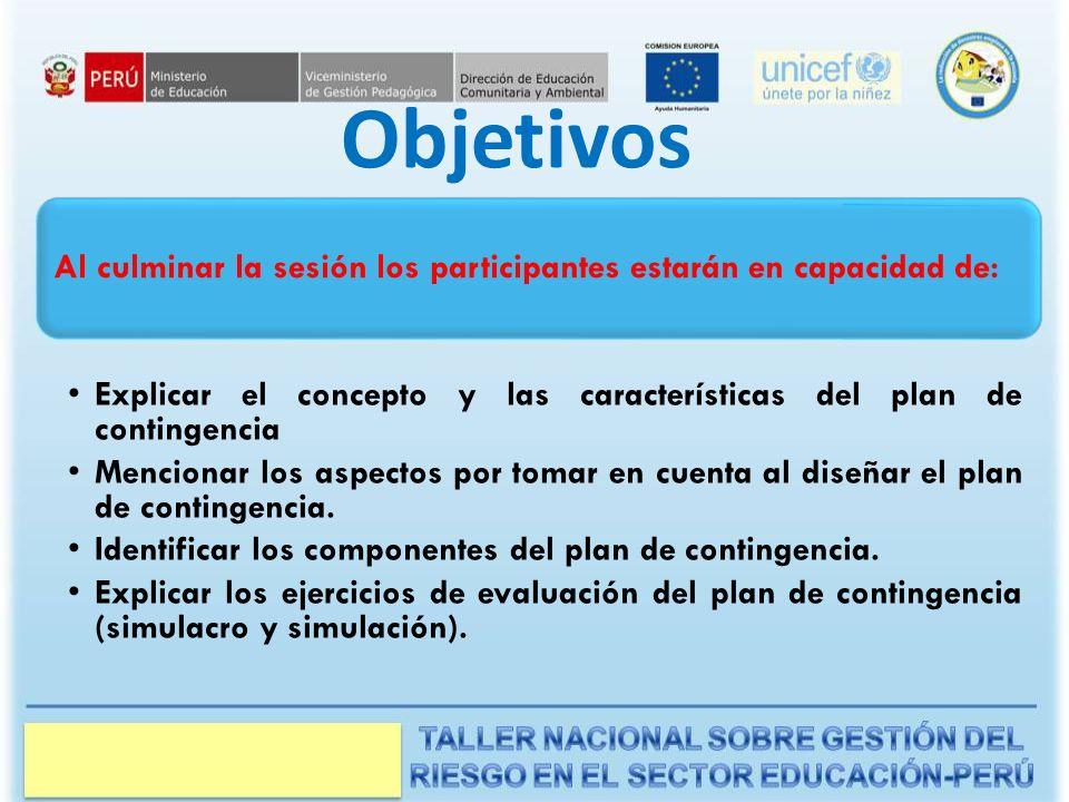 Manual del Instructor Objetivos. Al culminar la sesión los participantes estarán en capacidad de:
