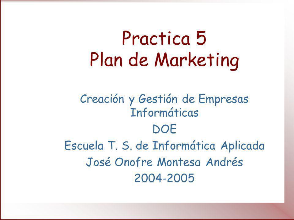 Introducción Hemos visto lo que es el marketing y ahora hay que planificar esta faceta de nuestra empresa.