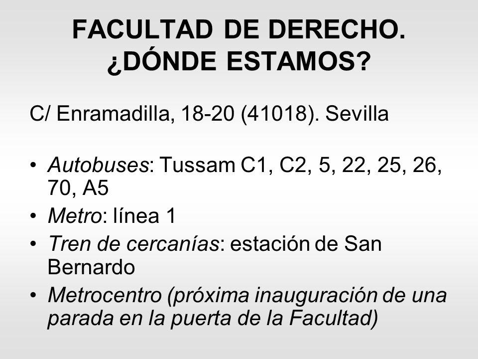 FACULTAD DE DERECHO. ¿DÓNDE ESTAMOS