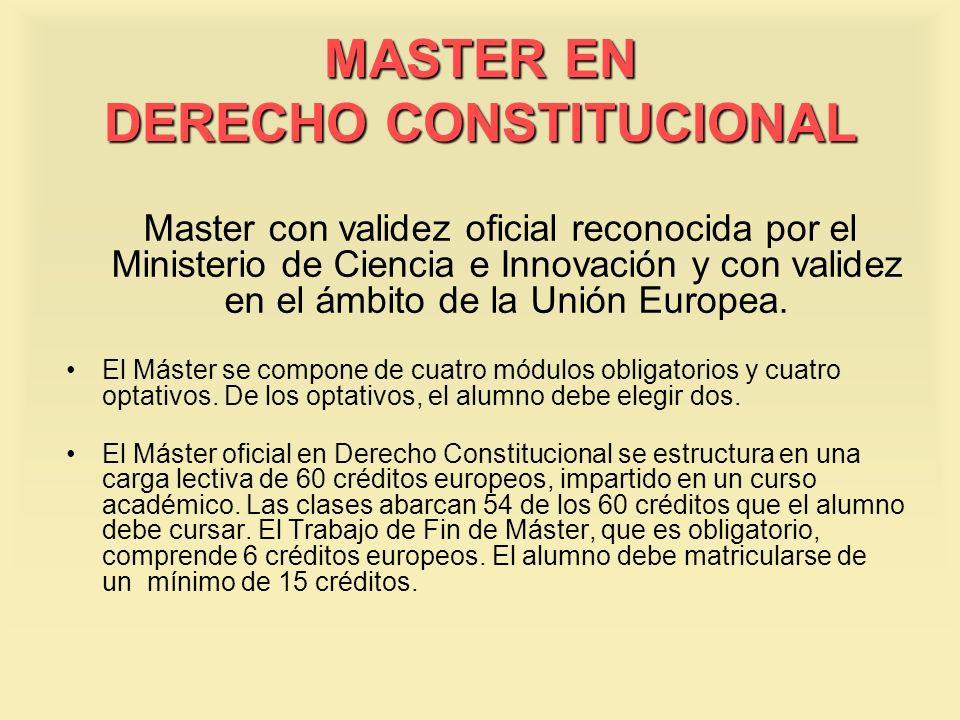 MASTER EN DERECHO CONSTITUCIONAL