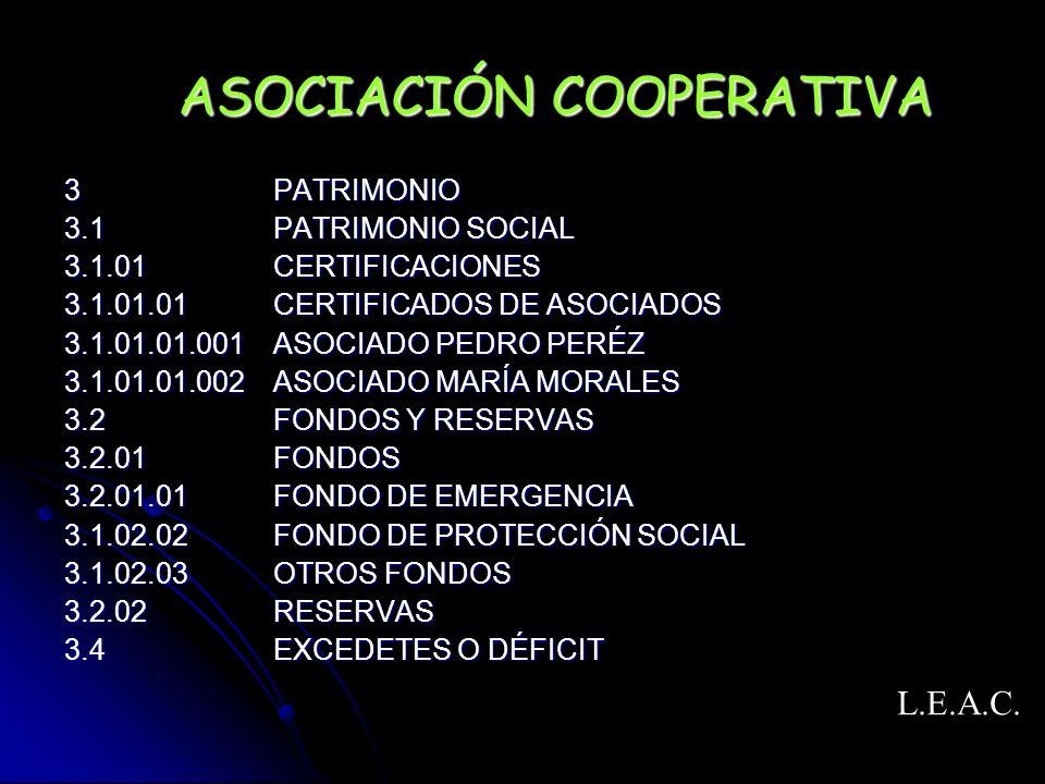 ASOCIACIÓN COOPERATIVA