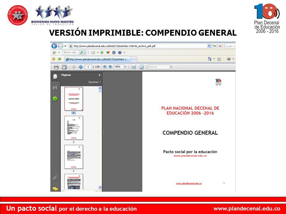 VERSIÓN IMPRIMIBLE: COMPENDIO GENERAL