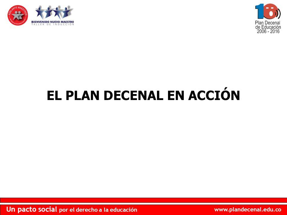 EL PLAN DECENAL EN ACCIÓN
