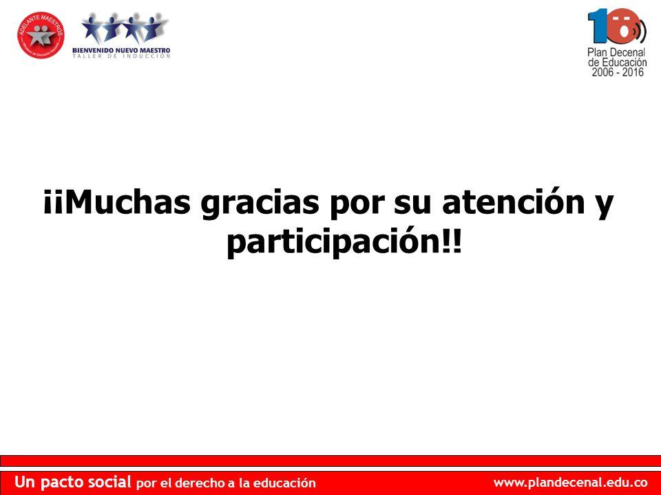 ¡¡Muchas gracias por su atención y participación!!
