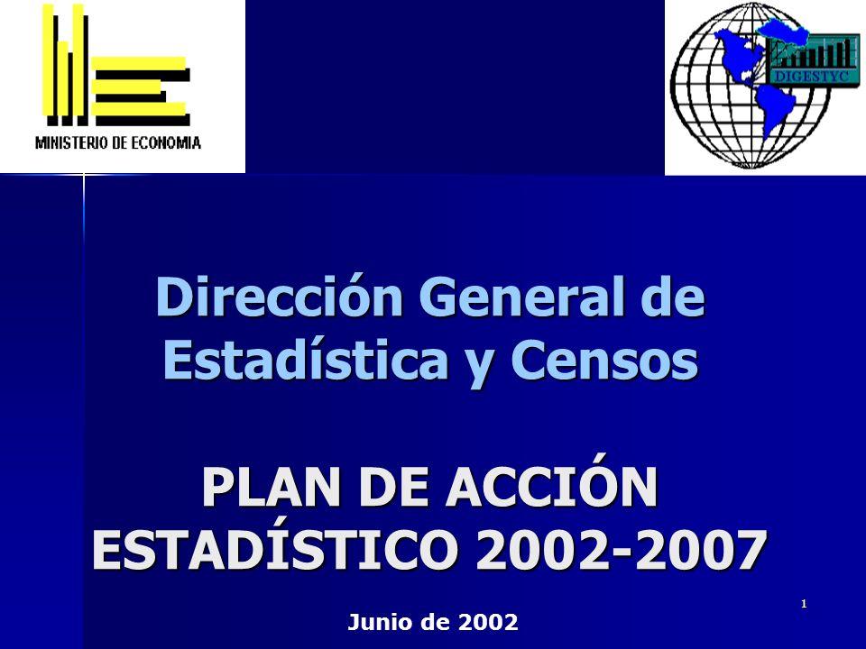Dirección General de Estadística y Censos PLAN DE ACCIÓN ESTADÍSTICO 2002-2007