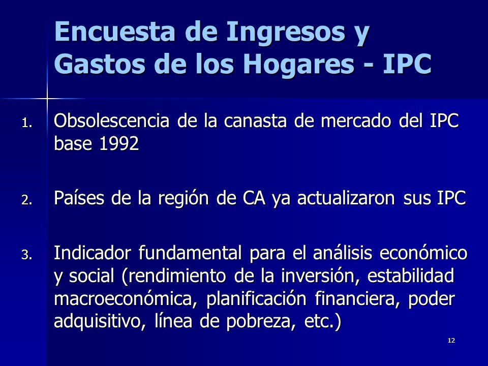 Encuesta de Ingresos y Gastos de los Hogares - IPC