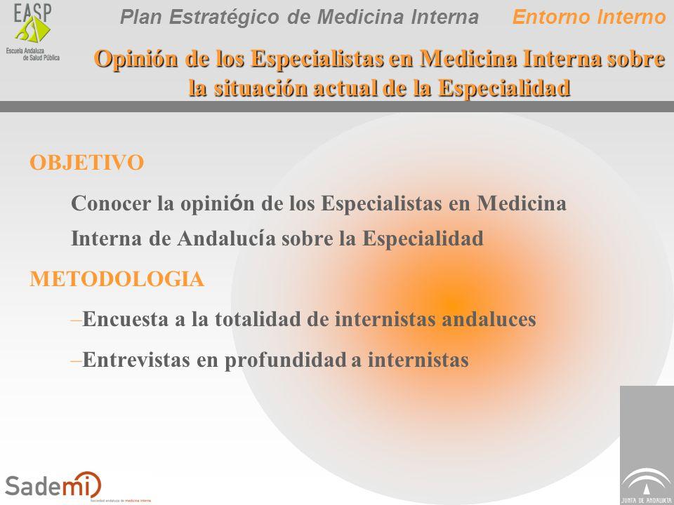 Entorno Interno Opinión de los Especialistas en Medicina Interna sobre la situación actual de la Especialidad.