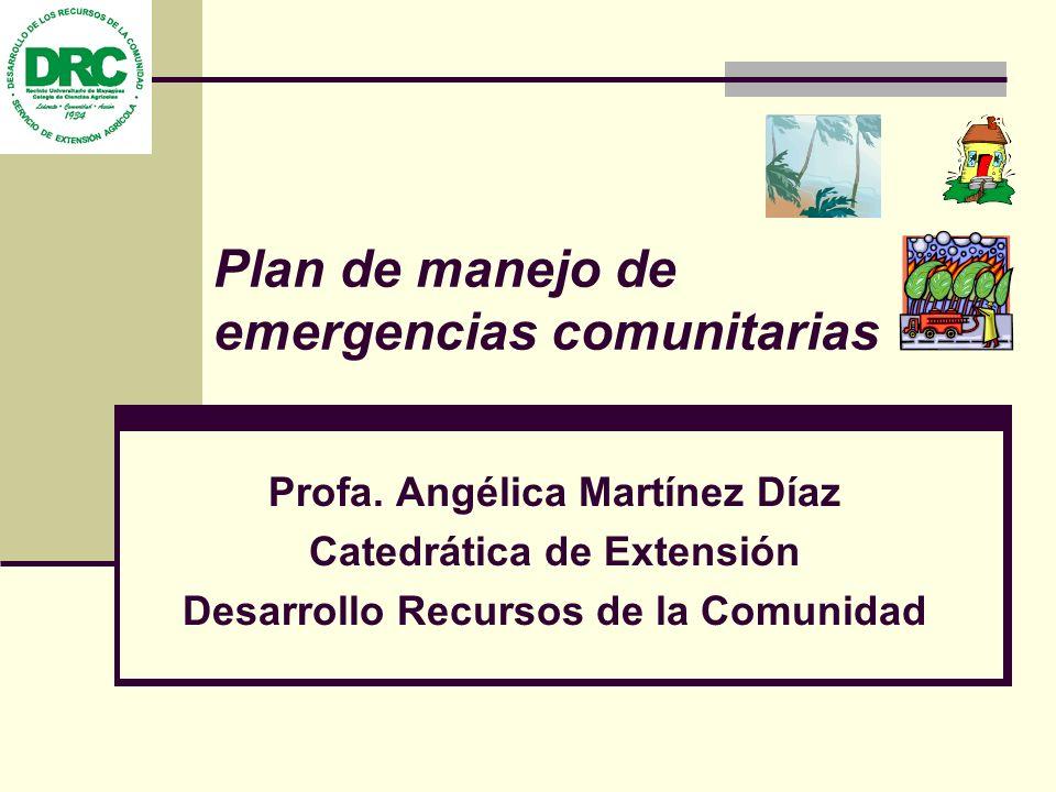 Plan de manejo de emergencias comunitarias