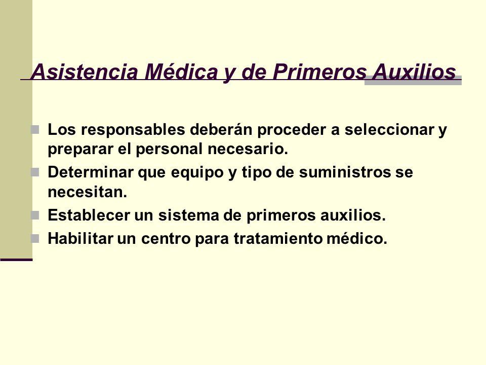 Asistencia Médica y de Primeros Auxilios
