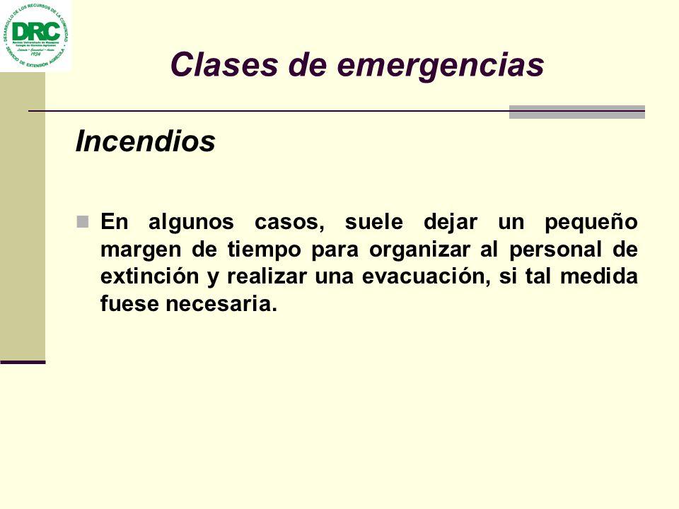 Clases de emergencias Incendios