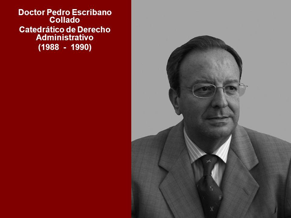 Doctor Pedro Escribano Collado Catedrático de Derecho Administrativo