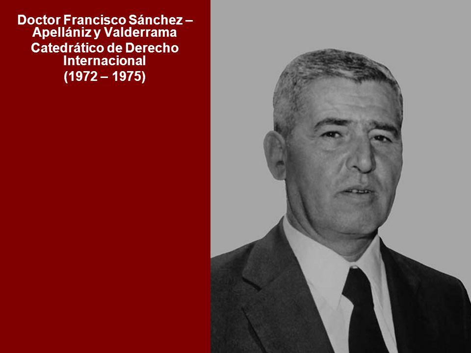 Doctor Francisco Sánchez – Apellániz y Valderrama