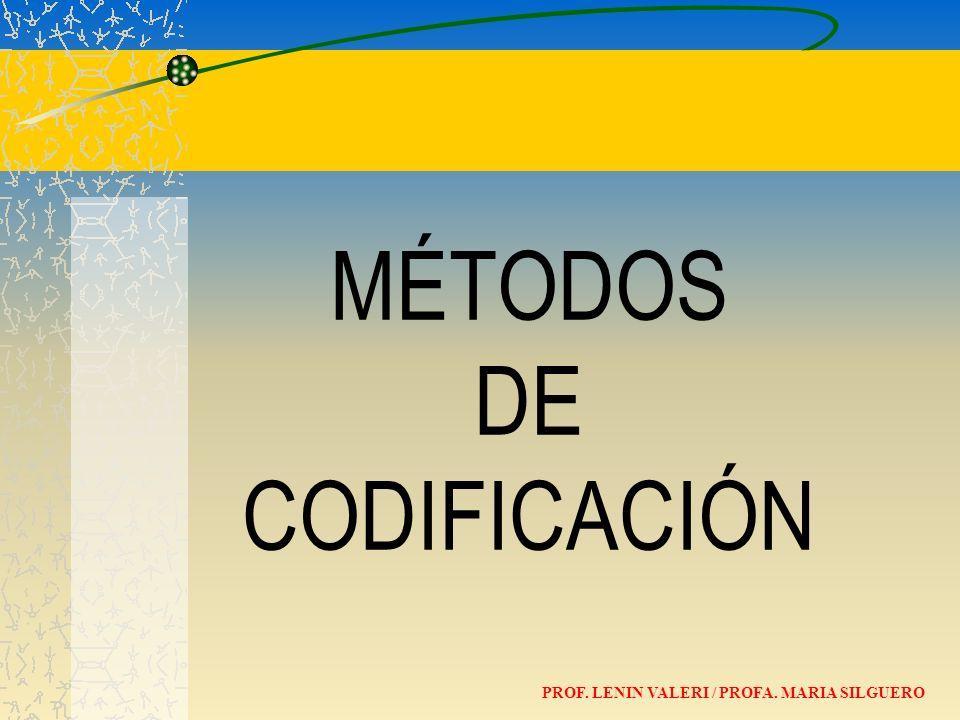 MÉTODOS DE CODIFICACIÓN