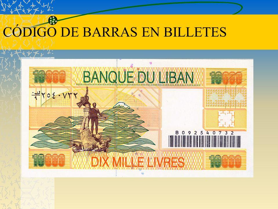 CÓDIGO DE BARRAS EN BILLETES