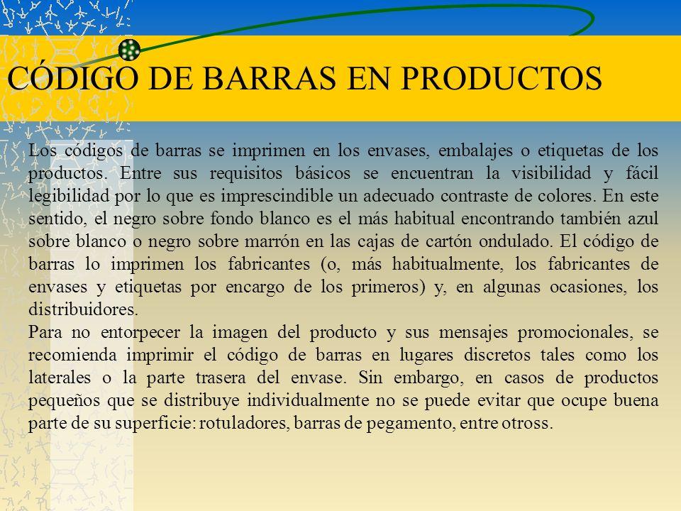 CÓDIGO DE BARRAS EN PRODUCTOS