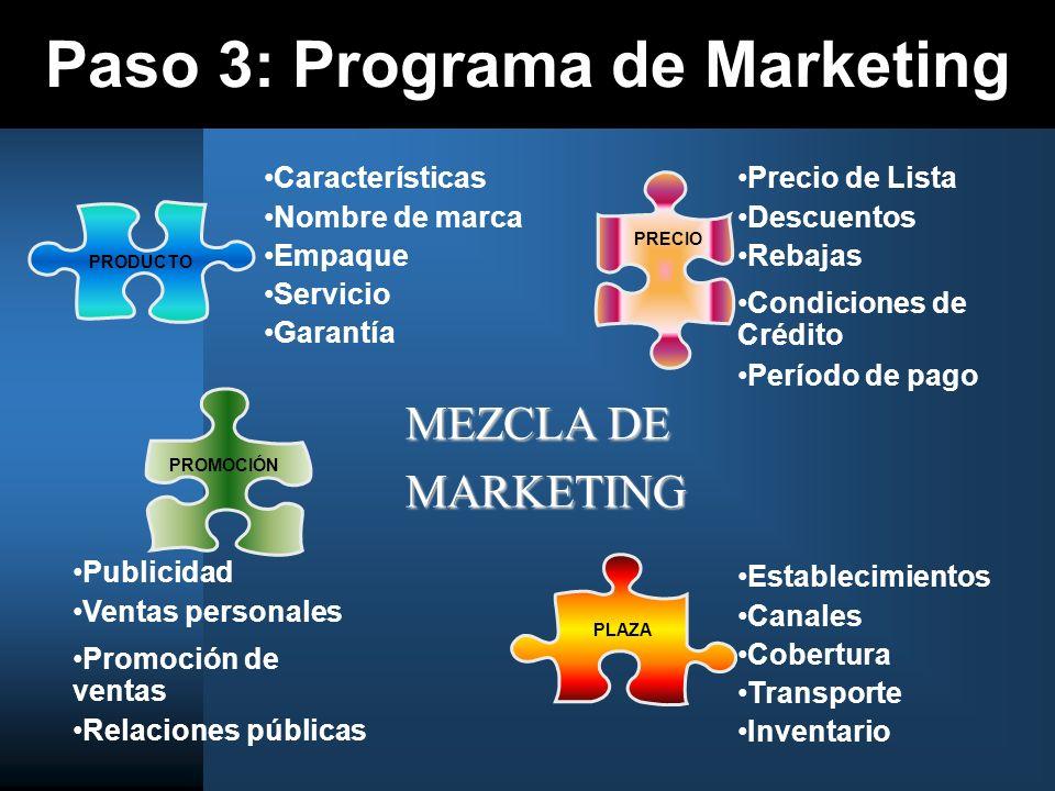 Paso 3: Programa de Marketing