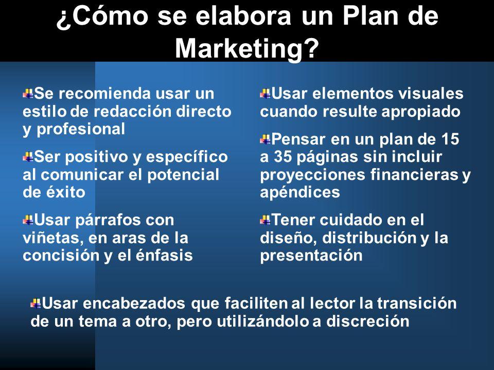 ¿Cómo se elabora un Plan de Marketing
