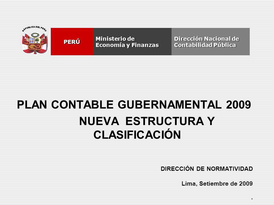 Plan Contable Gubernamental 2009 Nueva Estructura Y